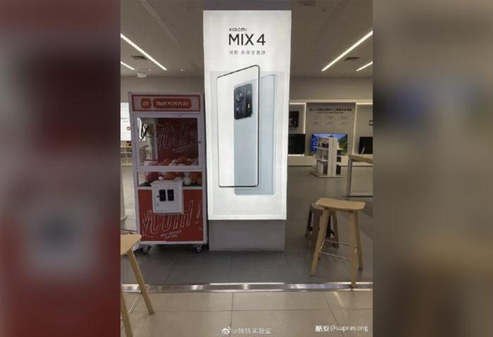 Poster promocional do Xiaomi Mi Mix 4 (Imagem: Reprodução/Weibo)