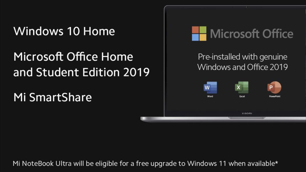 Xiaomi Mi Notebook Ultra e Pro vêm com Windows 10 e Office (Imagem: Divulgação/Xiaomi)