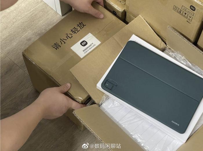 Xiaomi Mi Pad 5 terá capa com teclado (Imagem: Reprodução/Digital Chat Station/Weibo)