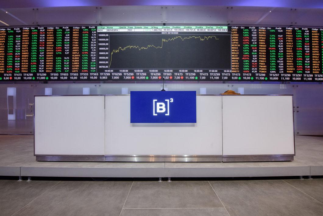 Interior da B3, a bolsa de valores de São Paulo
