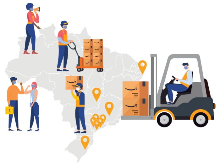 Amazon tem 9 centros de distribuição no Brasil (Imagem: Divulgação/ Amazon)