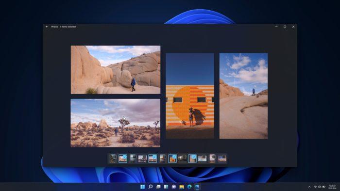 Visualização múltipla do Fotos (imagem: divulgação/Microsoft)