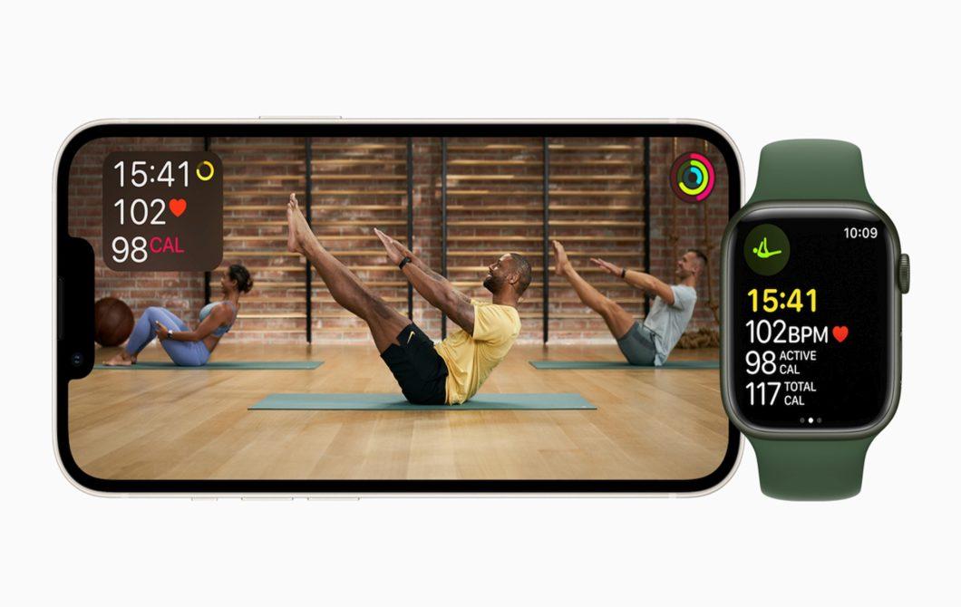 Apple Fitness+ no iPhone e Apple Watch (imagem: divulgação/Apple)