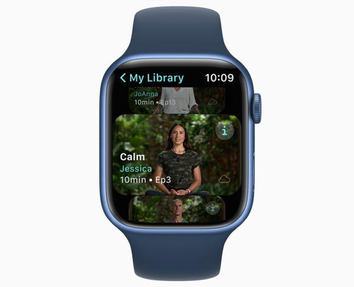 Meditação no Apple Fitness+ (imagem: divulgação/Apple)