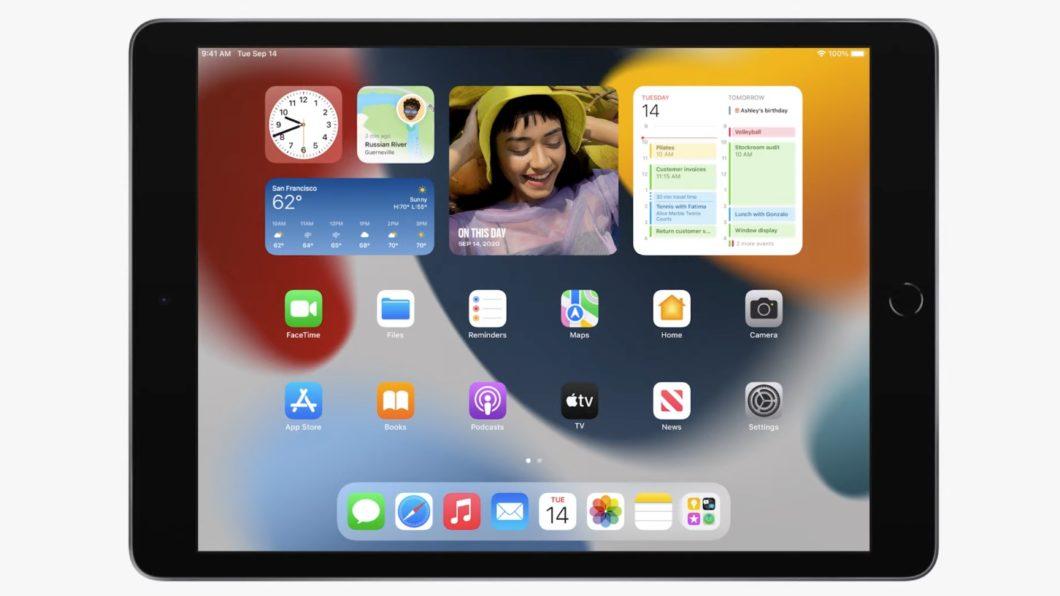 iPad de 9ª geração com iPadOS 15 (Imagem: Divulgação / Apple)