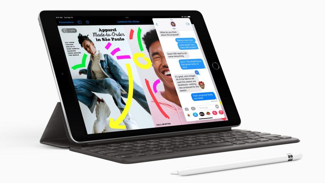 iPad de 9ª geração com Apple Pencil de 1ª geração (Imagem: Divulgação)