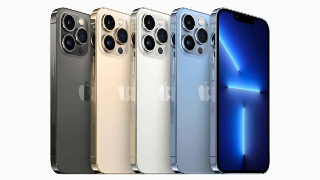 iPhone 13 Pro em cinco cores (Imagem: Divulgação / Apple)