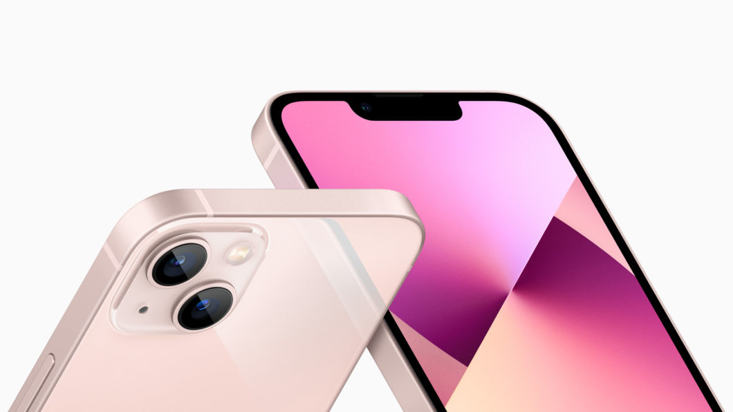 iPhone 13 e 13 Mini têm notch reduzido (Imagem: Divulgação / Apple)
