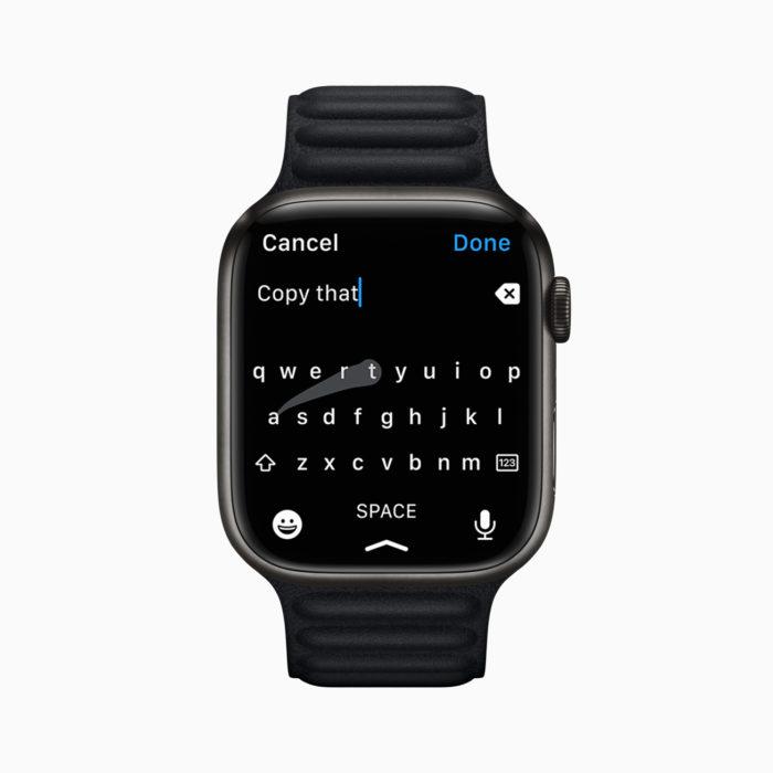Teclado no Apple Watch 7