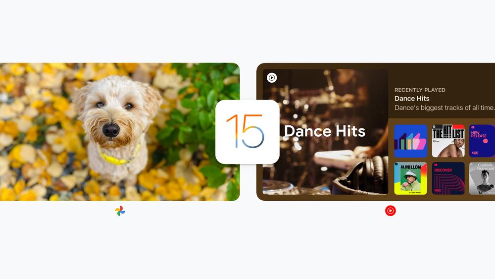 Apps do Google, como Fotos e YouTube Music, ganham widgets maiores no iPad (Imagem: Reprodução/Google)