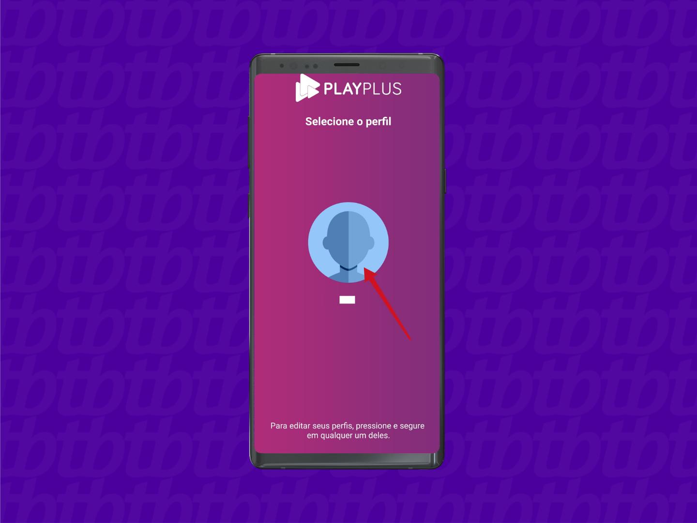Toque no perfil criado (Imagem: Reprodução/PlayPlus)