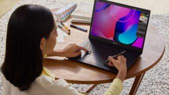 Asus lança notebook com tela OLED 4K e suporte a caneta no touchpad