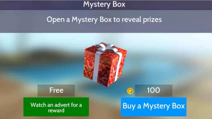 Caixa misteriosa em Avakin Life