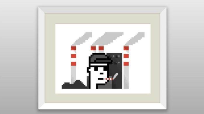 NFT de obra de arte digital falsa de Banksy (Imagem: Reprodução)