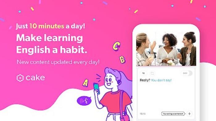 Cake aplicativo para aprender inglês