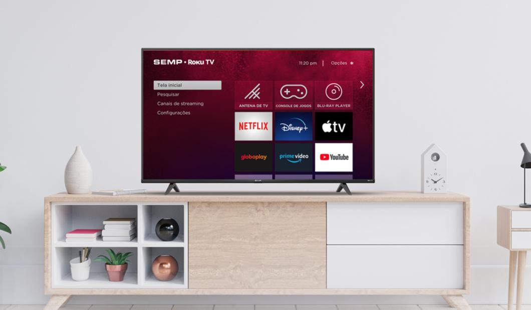 TV Semp com Roku TV (Imagem: Divulgação/TCL)