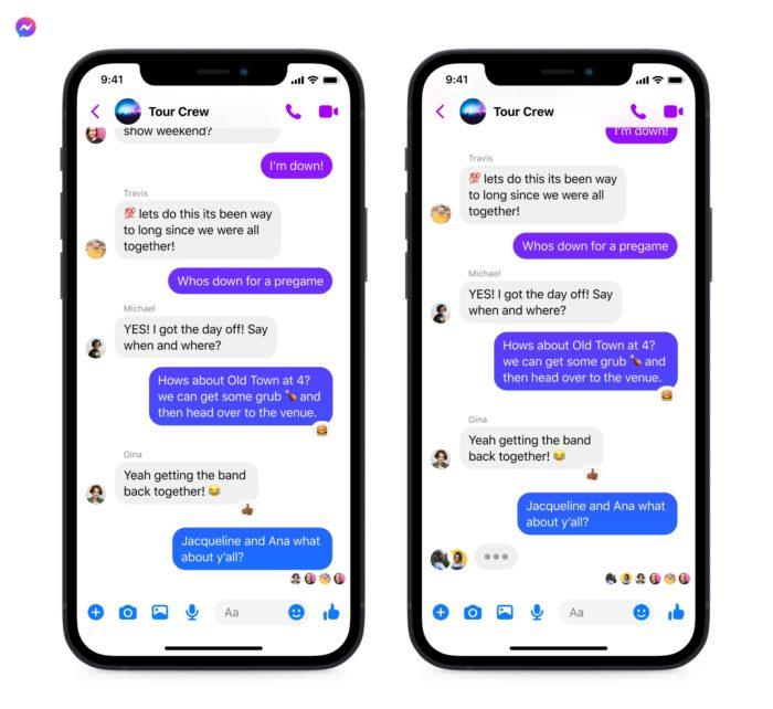 Aparência do chat em grupo no Instagram com indicadores de digitação (Imagem: Divulgação/ Facebook)