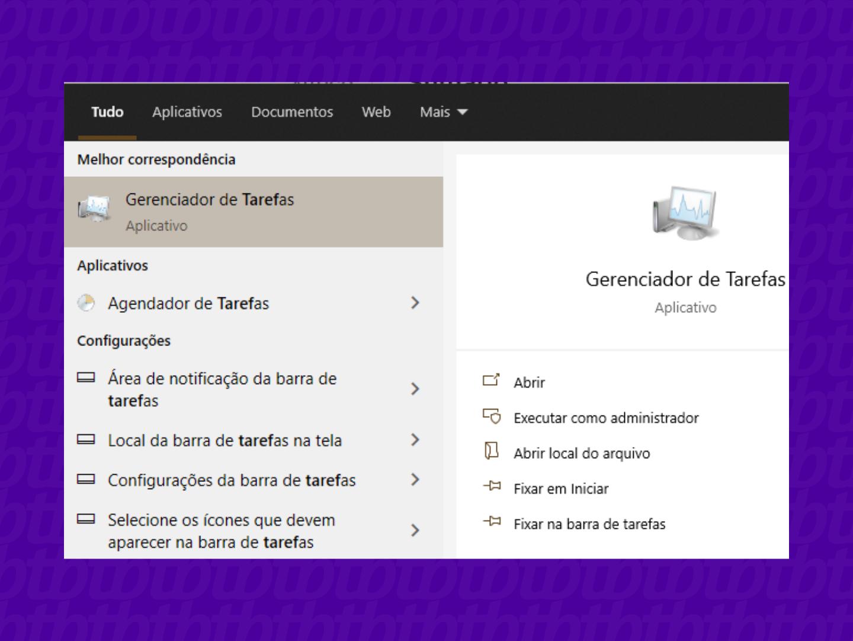 Abrindo gerenciador de tarefas do windows (Imagem: Leandro Kovacs/reprodução)