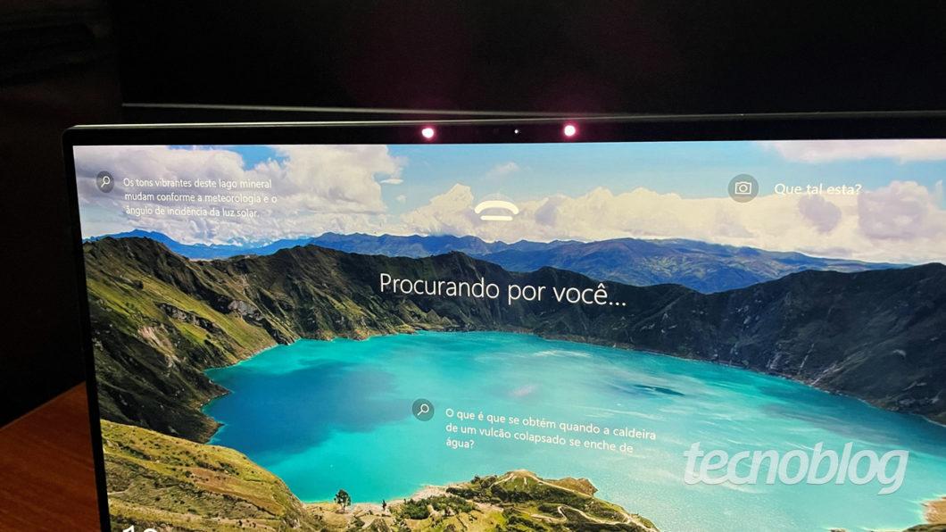 Dell XPS 13 é compatível com o Windows Hello (imagem: Emerson Alecrim/Tecnoblog)