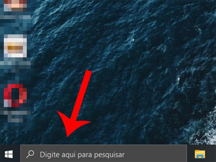 Clique na barra de busca (Imagem: Reprodução/Windows 10)