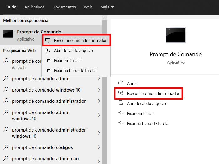 Execute o programa como administrador (Imagem: Reprodução/Windows 10)