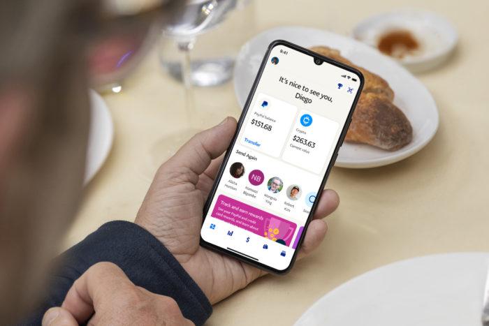 Nova interface de pagamentos do PayPal (Imagem: Divulgação/ PayPal)