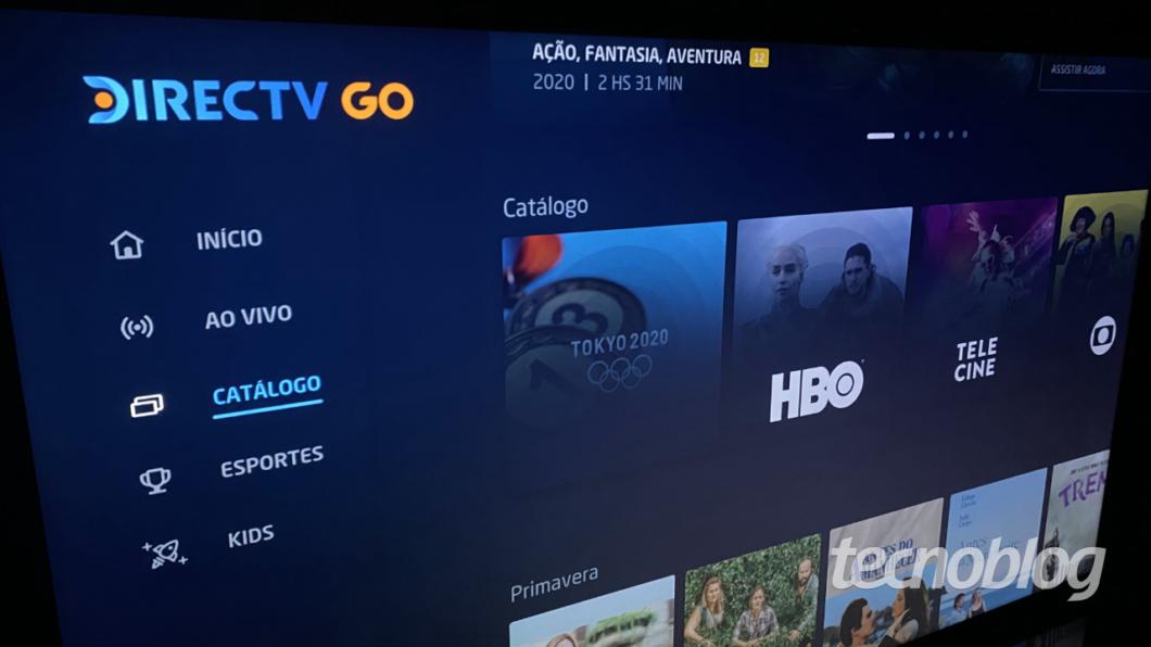 DirecTV Go tem canais ao vivo e conteúdo sob demanda sem custo extra para clientes Sky (Imagem: Lucas Braga / Tecnoblog)