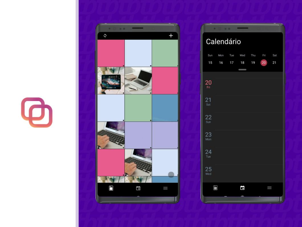 Com interface intuitiva, o app ajuda na organização do feed e tem o recurso calendário (Imagem: Reprodução / Amanda Machado)