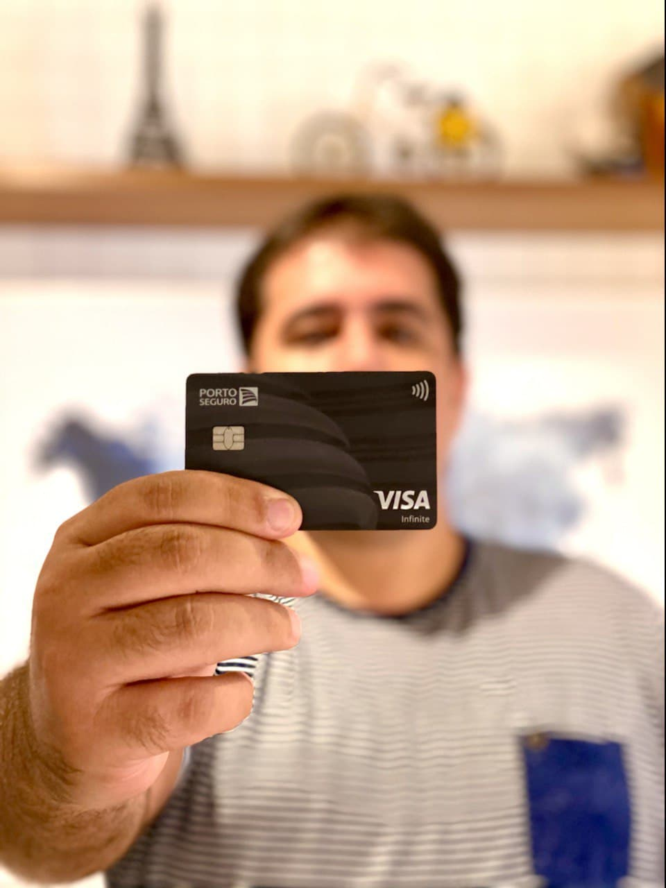 Gabriel Dias e seu cartão Porto Seguro Visa Infinite