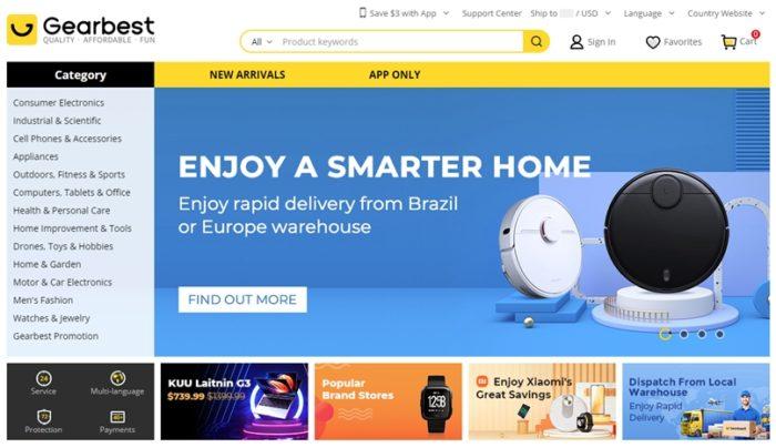 Gearbest, concorrente do AliExpress, some da internet sem avisar clientes