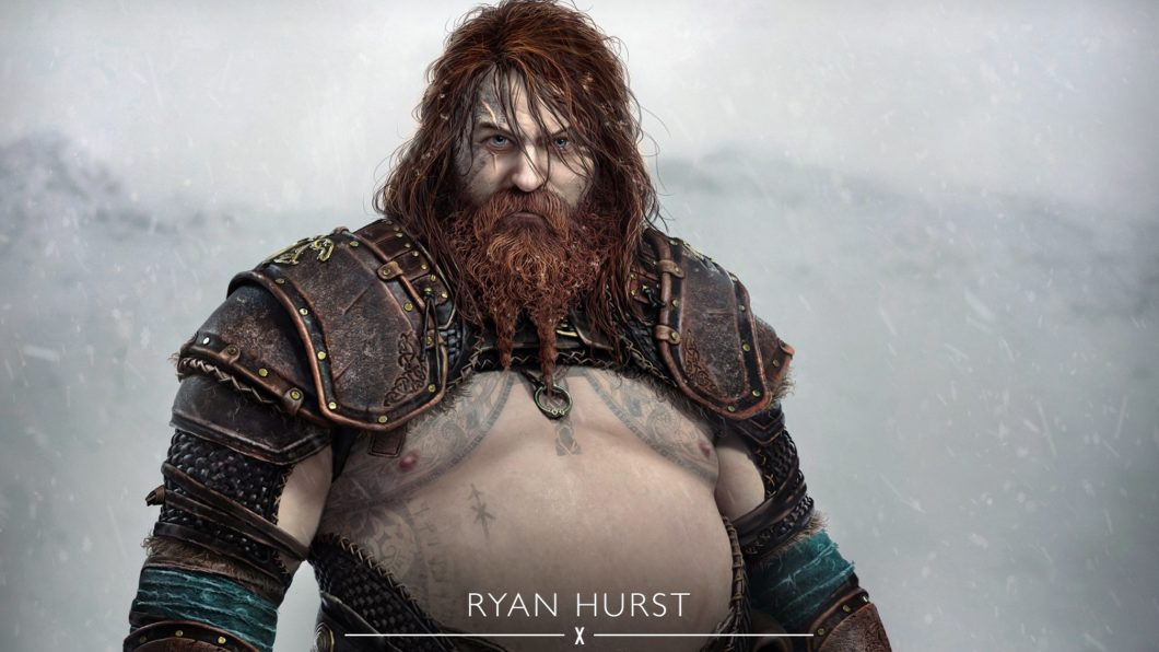 Thor de God of War Ragnarok (Imagem: Divulgação/Sony)