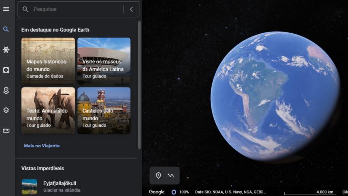 Como usar o Google Earth
