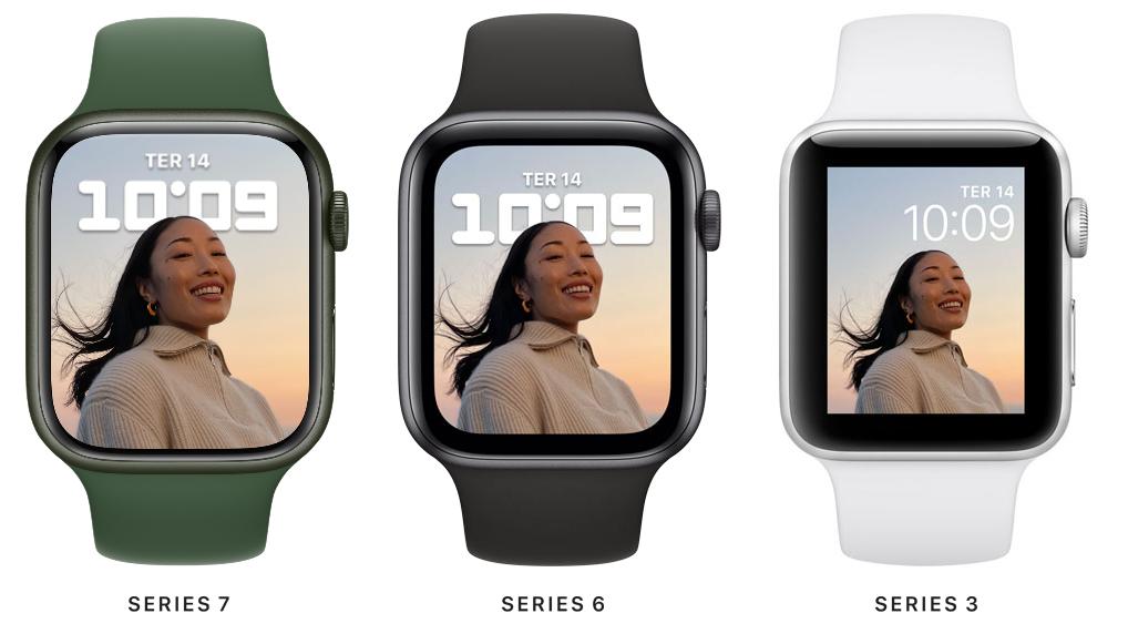Comparativo entre Watches 7, 6 e 3