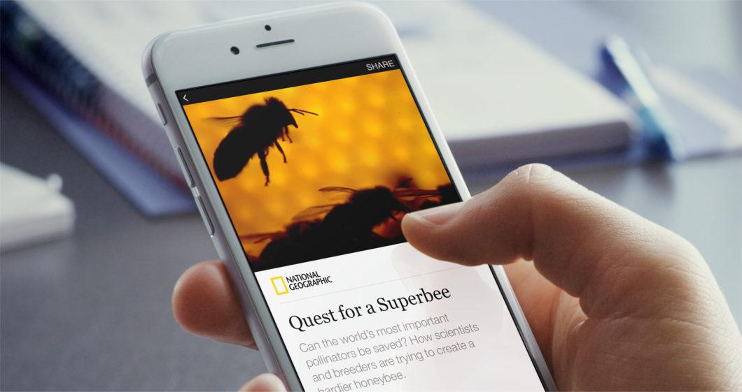 Interface de um Instant Articles (Imagem: Divulgação/Facebook)