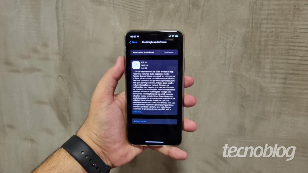 iOS 15 chega aos iPhones em setembro e traz melhorias (Imagem: Lucas Braga / Tecnoblog)