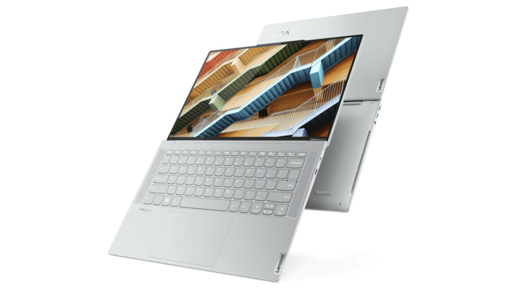 Lenovo Yoga Slim 7 Carbon possui tela OLED de 14 polegadas (Imagem: Divulgação/Lenovo)