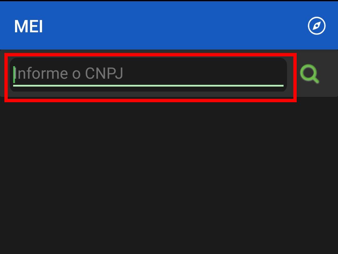 Informe seu CNPJ (Imagem: Reprodução/App MEI)