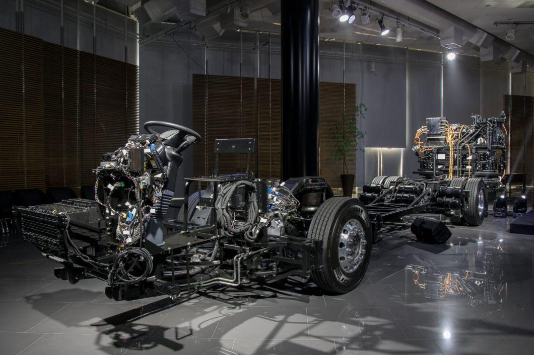O chassi eO500U (imagem: divulgação/Mercedes-Benz)
