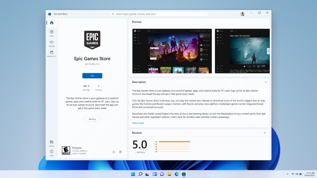 Microsoft Store agora inclui loja alternativa da Epic Games (Imagem: Reprodução/Microsoft)