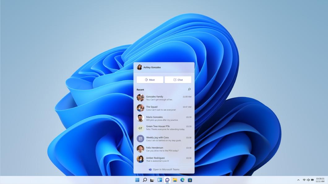 Microsoft Teams no Windows 11 (imagem: divulgação/Microsoft)