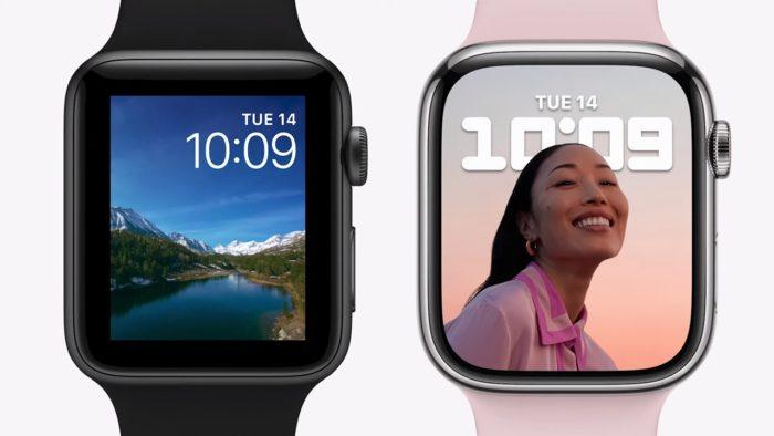 Modo retrato como mostrador no Apple Watch (imagem: reprodução/Apple)