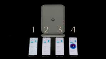 Motorola Space Charging consegue carregar bateria de 4 celulares à distância
