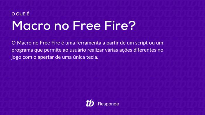O que é Macro no Free Fire?O Macro no Free Fire é uma ferramenta a partir de um script ou um programa que permite ao usuário realizar várias ações diferentes no jogo com o apertar de uma única tecla