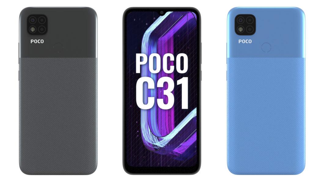 Poco C31 (Imagem: Divulgação/Xiaomi)