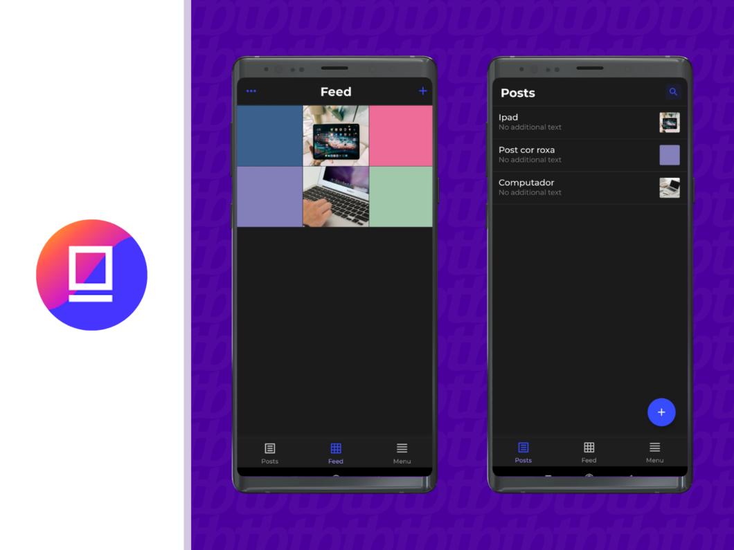 O app tem um banco de posts para você deixar seus conteúdos e legendas salvos (Imagem: Reprodução / Amanda Machado)