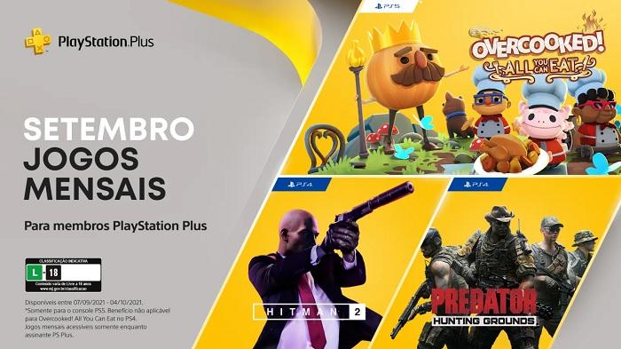 PS Plus de setembro dá Overcooked e Hitman 2 para assinantes / PlayStation / Divulgação