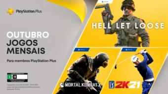 PS Plus de outubro tem Mortal Kombat X e mais jogos no PS4 e PS5