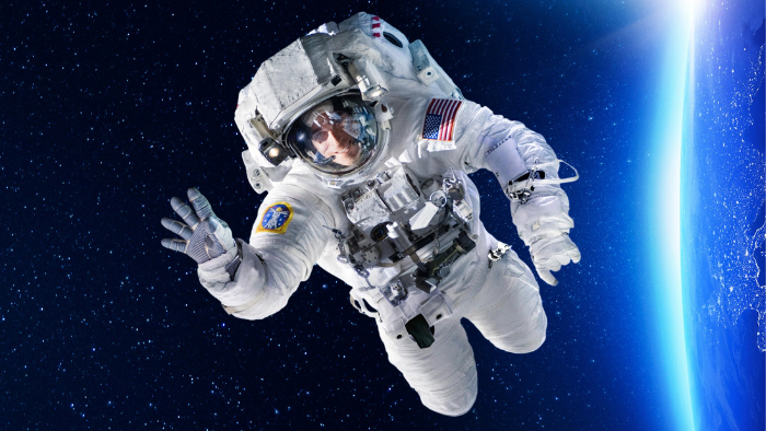 man image in space