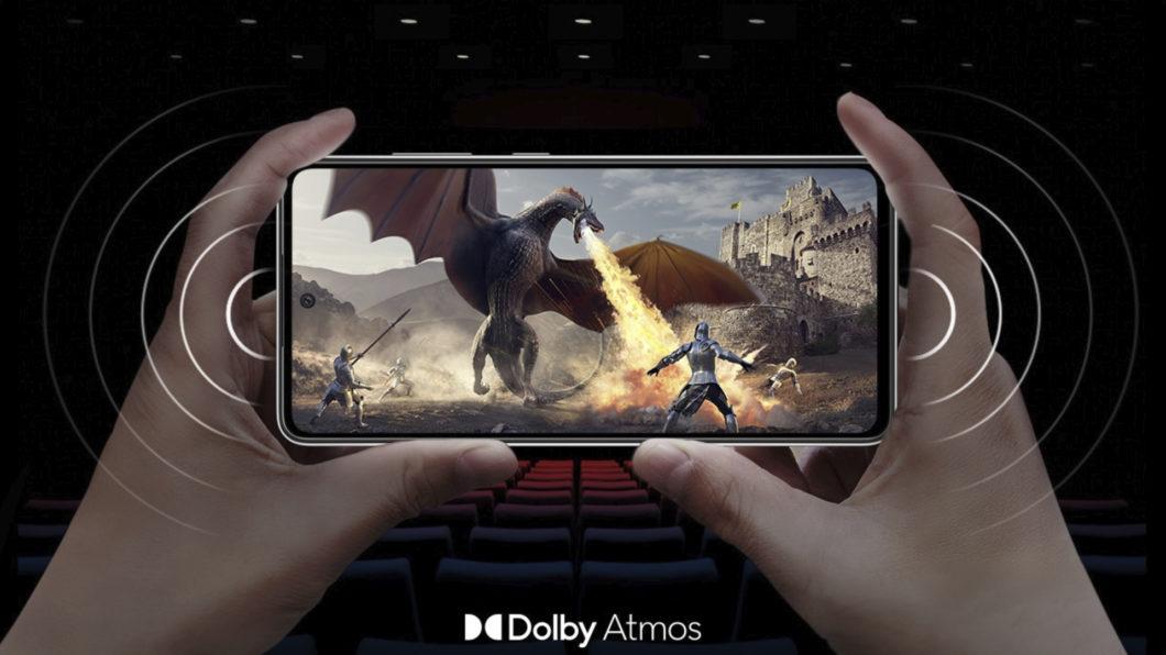 Galaxy A52s 5G possui Dolby Atmos (Imagem: Divulgação/Samsung)