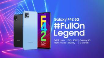 Samsung Galaxy F42 é oficial com tela de 90 Hz e câmera tripla de 64 MP